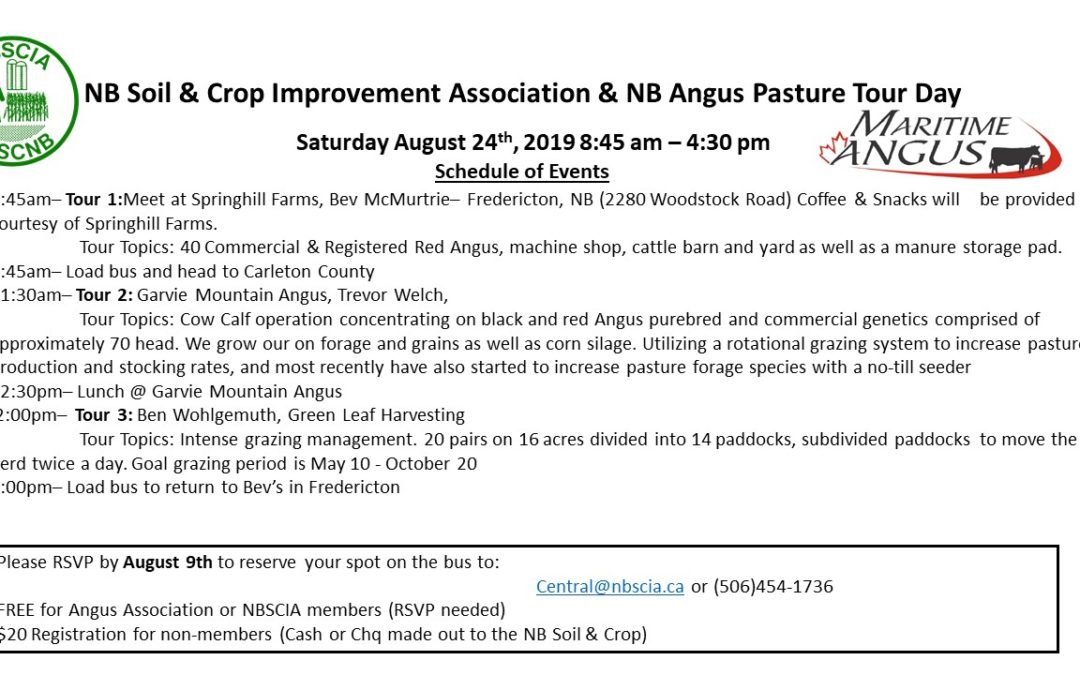 NB Soils & Crops Pasture Tour